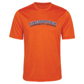 Performance Orange Heather Contender Tee-Arched Kingsborough