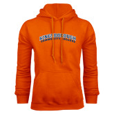 Community College Orange Fleece Hoodie-Arched Kingsborough