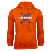 Community College Orange Fleece Hoodie-Baseball Sideways Seams