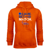 Community College Orange Fleece Hoodie-Tennis Game Set Match