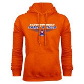 Community College Orange Fleece Hoodie-Track and Field Front View Shoe