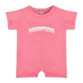 Community College Bubble Gum Pink Infant Romper-Arched Kingsborough