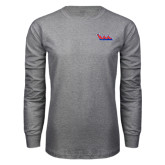 Grey Long Sleeve T Shirt-The Wave