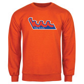Community College Orange Fleece Crew-The Wave