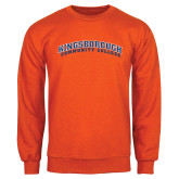 Community College Orange Fleece Crew-Arched Kingsborough