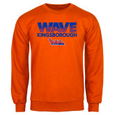Community College Orange Fleece Crew-Wave