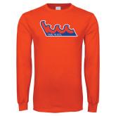 Orange Long Sleeve T Shirt-The Wave