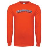 Orange Long Sleeve T Shirt-Arched Kingsborough