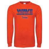 Orange Long Sleeve T Shirt-Wave