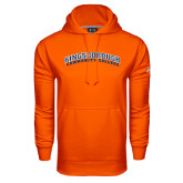 Community College Under Armour Orange Performance Sweats Team Hoodie-Arched Kingsborough