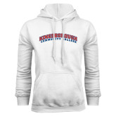 Community College White Fleece Hoodie-Arched Kingsborough