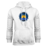 Community College White Fleece Hoodie-LightHouse