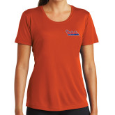 Ladies Syntrel Performance Orange Tee-The Wave