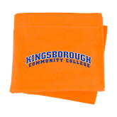 Community College Orange Sweatshirt Blanket-Arched Kingsborough