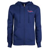 Community College ENZA Ladies Royal Fleece Full Zip Hoodie-The Wave