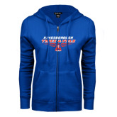 Community College ENZA Ladies Royal Fleece Full Zip Hoodie-Track and Field Front View Shoe