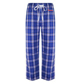 Royal/White Flannel Pajama Pant-The Wave