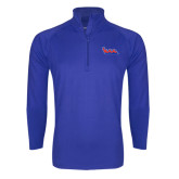 Community College Sport Wick Stretch Royal 1/2 Zip Pullover-The Wave