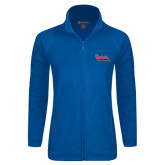 Ladies Fleece Full Zip Royal Jacket-The Wave