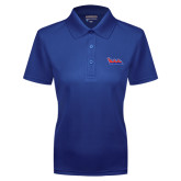 Community College Ladies Royal Dry Mesh Polo-The Wave