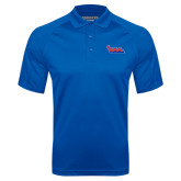 Community College Royal Textured Saddle Shoulder Polo-The Wave
