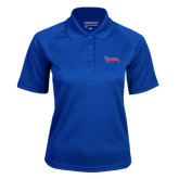 Community College Ladies Royal Textured Saddle Shoulder Polo-The Wave