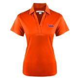 Community College Ladies Orange Performance Fine Jacquard Polo-The Wave