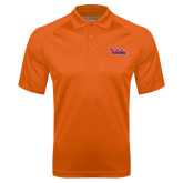 Community College Orange Textured Saddle Shoulder Polo-The Wave