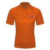 Community College Ladies Orange Textured Saddle Shoulder Polo-The Wave