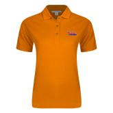 Community College Ladies Easycare Orange Pique Polo-The Wave