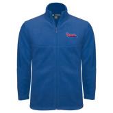 Fleece Full Zip Royal Jacket-The Wave