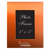 Orange Brushed Aluminum 3 x 5 Photo Frame-The Wave Engraved