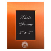 Orange Brushed Aluminum 3 x 5 Photo Frame-LightHouse