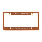 Metal Orange License Plate Frame-The Wave