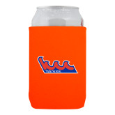 Community College Neoprene Orange Can Holder-The Wave