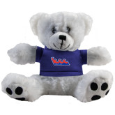 Plush Big Paw 8 1/2 inch White Bear w/Royal Shirt-The Wave