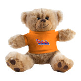 Plush Big Paw 8 1/2 inch Brown Bear w/Orange Shirt-The Wave
