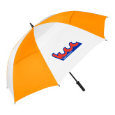 62 Inch Orange/White Umbrella-The Wave