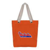 Allie Orange Canvas Tote-The Wave