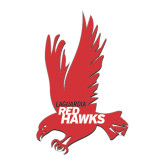 Medium Decal-Red Hawk, 8 in tall