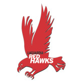 Large Decal-Red Hawk, 12 in Tall