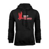 Black Fleece Hoodie-LaGuardia Red Hawks