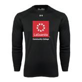 Under Armour Black Long Sleeve Tech Tee-Official Logo