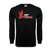Black Long Sleeve TShirt-LaGuardia Red Hawks