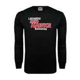 Black Long Sleeve TShirt-Swimming