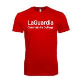 SoftStyle Red T Shirt-LaGuardia Wordmark