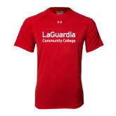 Under Armour Red Tech Tee-LaGuardia Wordmark