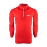 Under Armour Red Tech 1/4 Zip Performance Shirt-LaGuardia Wordmark