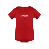 Red Infant Onesie-LaGuardia Wordmark