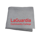 Grey Sweatshirt Blanket-LaGuardia Wordmark